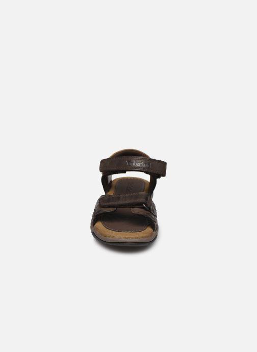 Sandalen Timberland Oak Bluffs Leather 2Strap braun schuhe getragen