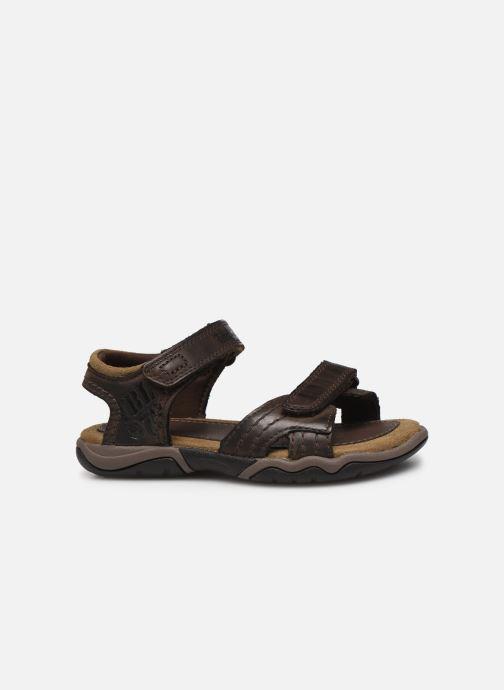 Sandales et nu-pieds Timberland Oak Bluffs Leather 2Strap Marron vue derrière