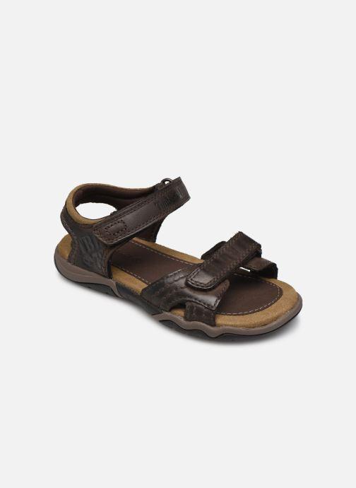 Sandales et nu-pieds Timberland Oak Bluffs Leather 2Strap Marron vue détail/paire