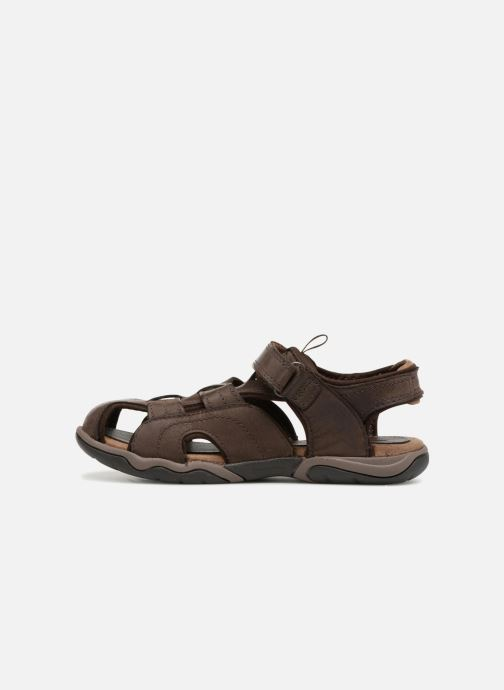 Sandali e scarpe aperte Timberland Oak Bluffs Leather Fisher Marrone immagine frontale