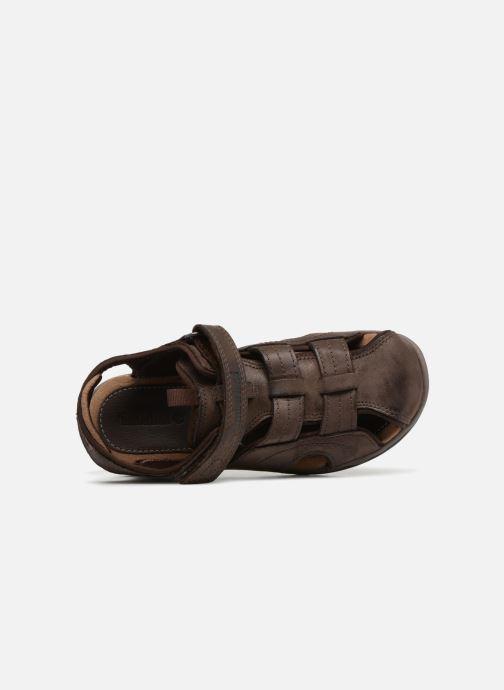 Sandales et nu-pieds Timberland Oak Bluffs Leather Fisher Marron vue gauche