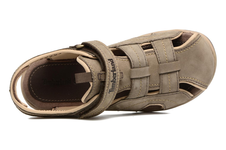 Sandali e scarpe aperte Timberland Oak Bluffs Leather Fisher Grigio immagine sinistra
