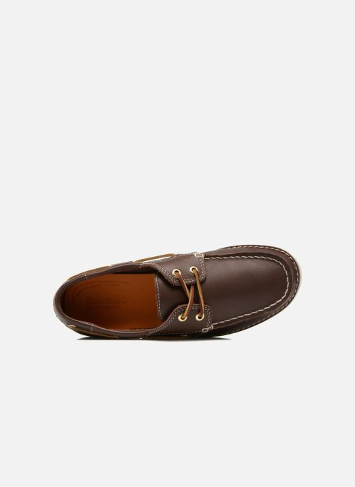 Lace-up shoes Timberland Seabury Classic 2Eye Boat Brown view from the left