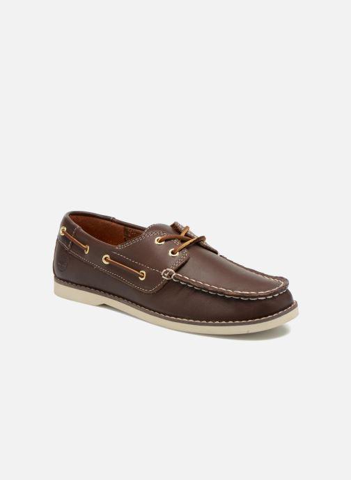 Chaussures à lacets Timberland Seabury Classic 2Eye Boat Marron vue détail/paire