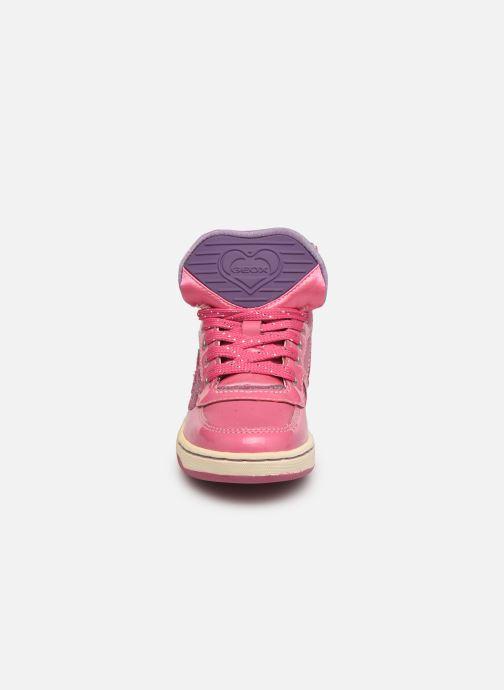 Sneakers Geox JR Maltin J4400B Rosa modello indossato