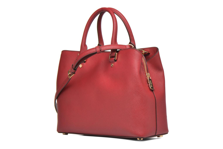 Bolsos de mano Michael Michael Kors SAVANNAH LG SATCHEL Rojo vista lateral derecha