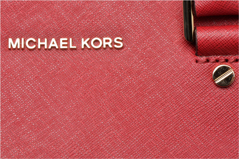 Bolsos de mano Michael Michael Kors SAVANNAH LG SATCHEL Rojo vista lateral izquierda