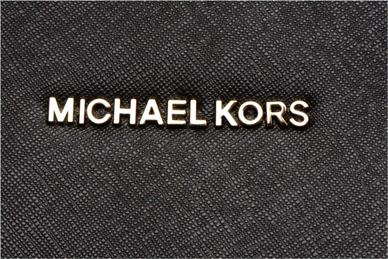 Sacs à main Michael Michael Kors SELMA MD TZ SATCHEL Noir vue gauche
