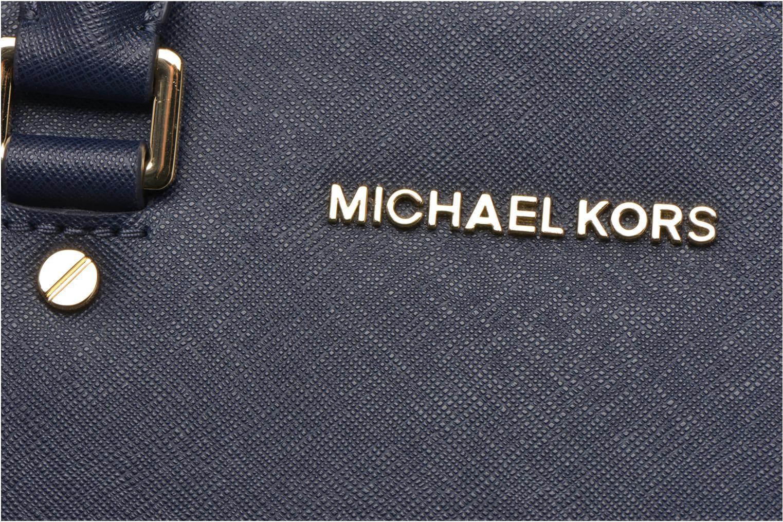 Sacs à main Michael Michael Kors SELMA MD TZ SATCHEL Bleu vue gauche