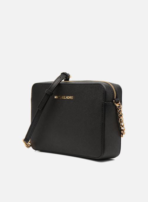 Handtaschen Michael Michael Kors JET SET TRAVEL LG EW CROSSBODY schwarz schuhe getragen