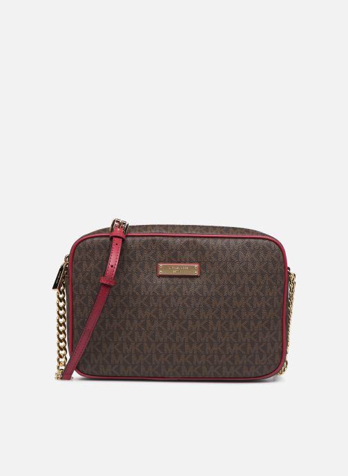 Sacs à main Michael Michael Kors JET SET TRAVEL LG EW CROSSBODY Rose vue détail/paire