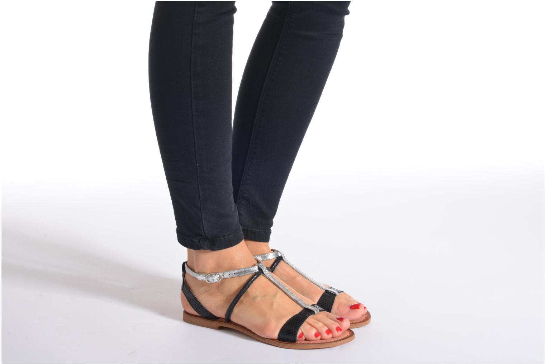 Sandales et nu-pieds Lulu Castagnette LC nutri Multicolore vue bas / vue portée sac