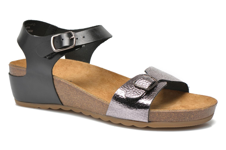 Sandales et nu-pieds Hush Puppies Tease Soothe Noir vue détail/paire