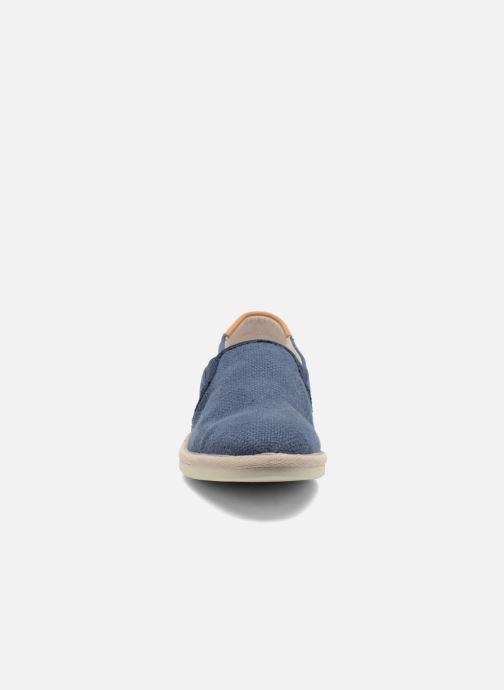 Sneakers Timberland City Shuffler Fabric Plai Azzurro modello indossato