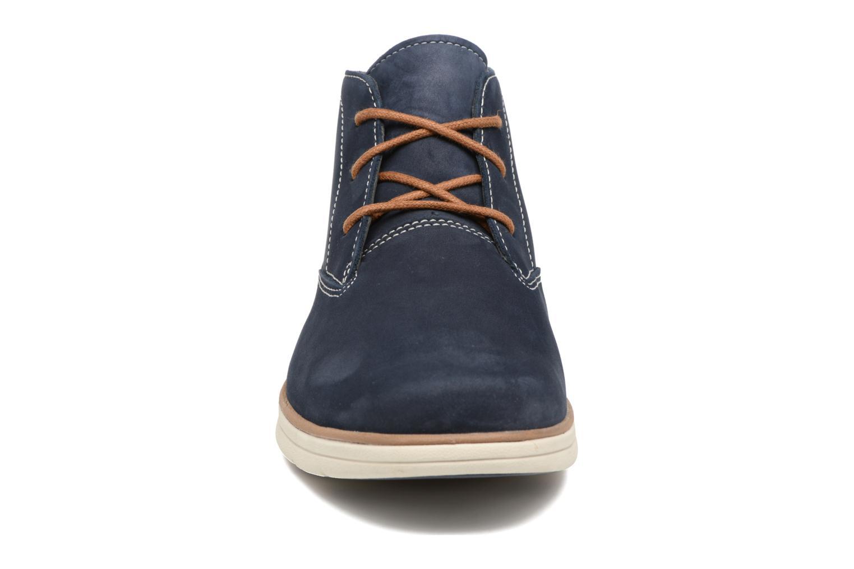 Chaussures à lacets Timberland Bradstreet PT Chukka Bleu vue portées chaussures