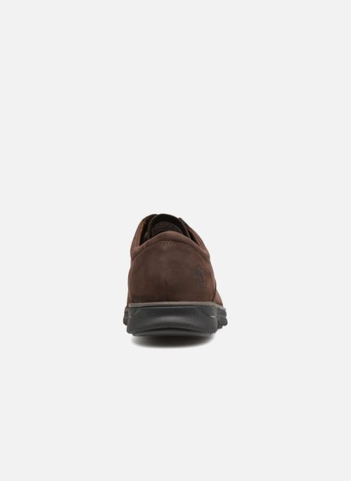 Zapatos con cordones Timberland Bradstreet PT Oxford Marrón vista lateral derecha