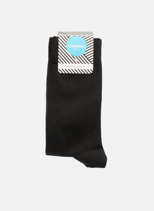 Chaussettes et collants Sarenza Wear Chaussettes Homme Pack de 3 Unies coton Noir vue portées chaussures