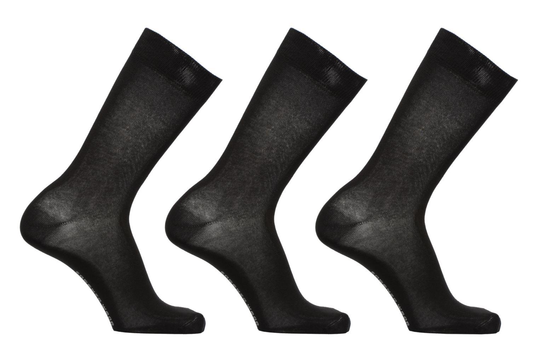 Chaussettes et collants Sarenza Wear Chaussettes Homme Pack de 3 Unies coton Noir vue détail/paire