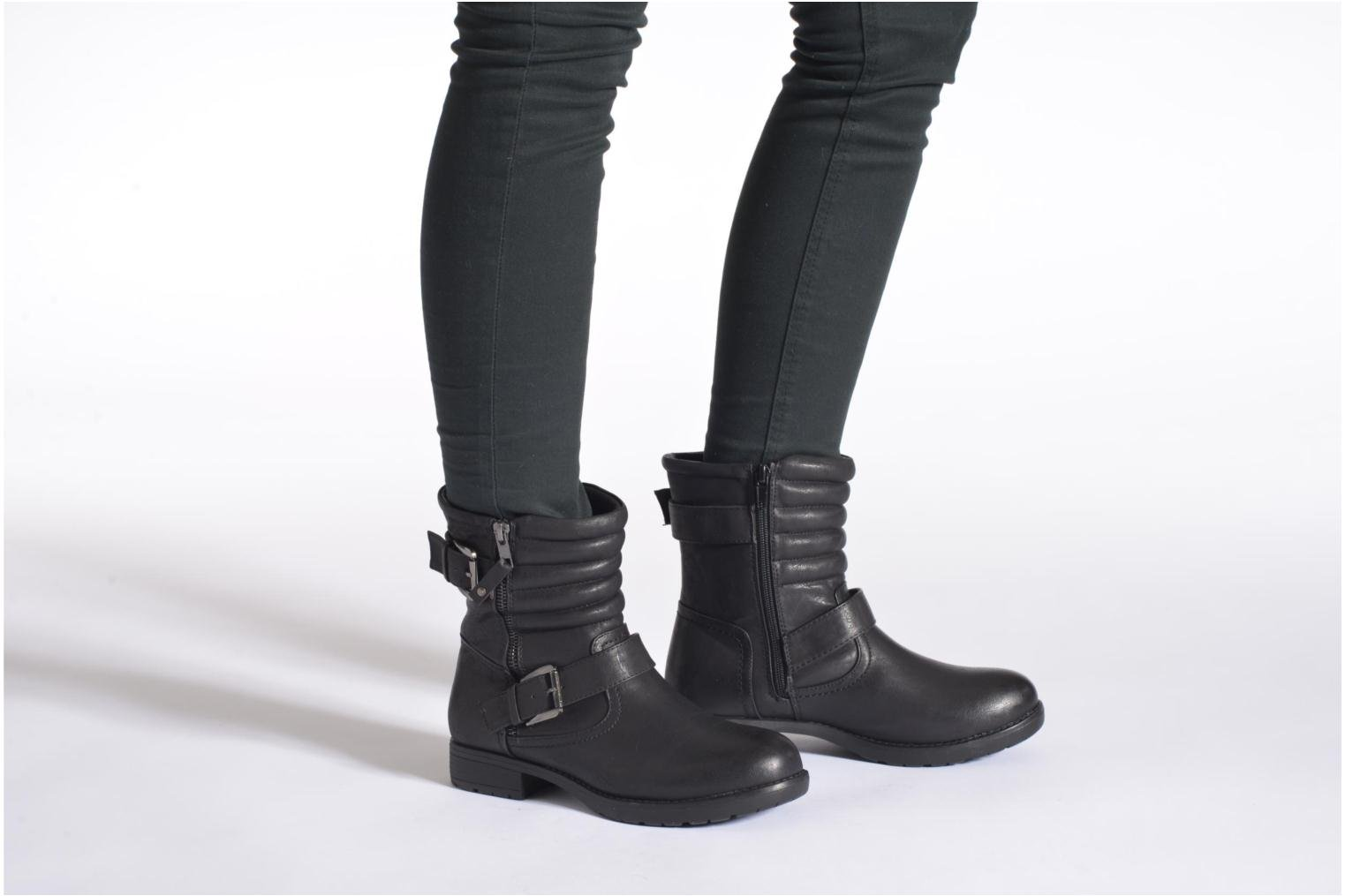 Bottines et boots I Love Shoes THEK Noir vue bas / vue portée sac