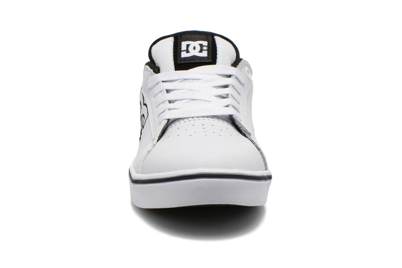 Baskets DC Shoes Notch B Blanc vue portées chaussures