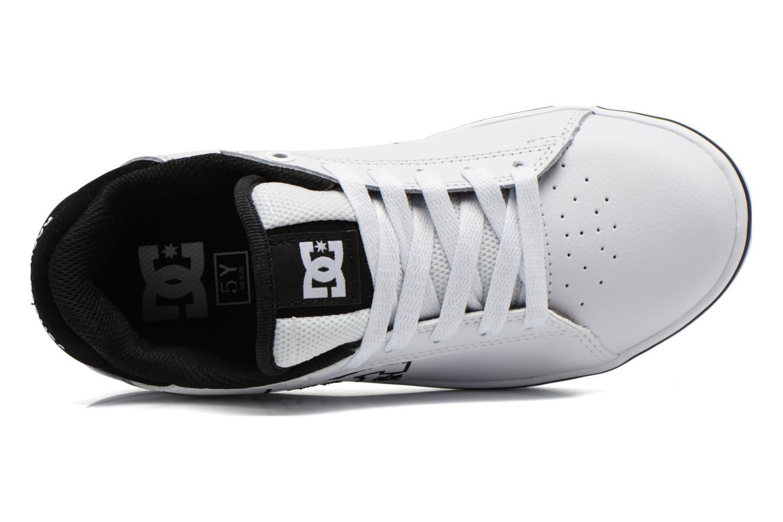 Baskets DC Shoes Notch B Blanc vue gauche