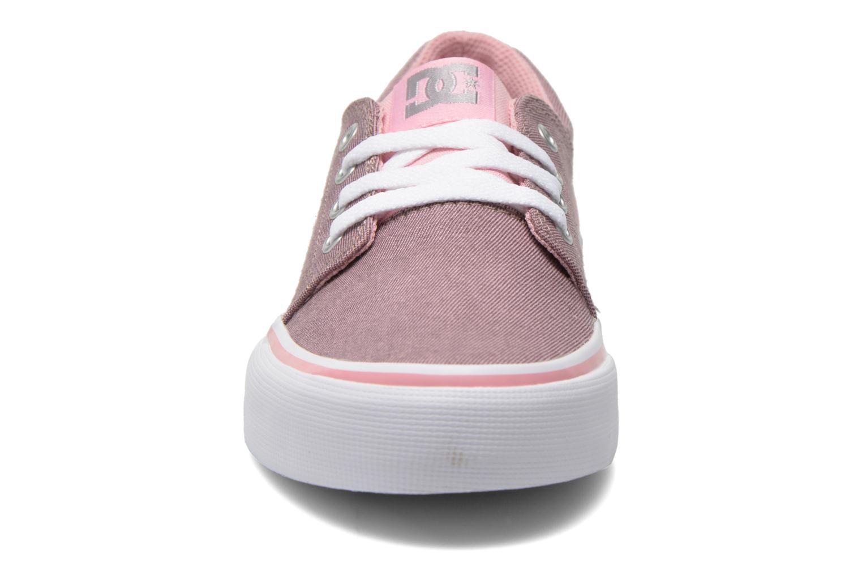 Baskets DC Shoes Trase Tx Se G Rose vue portées chaussures