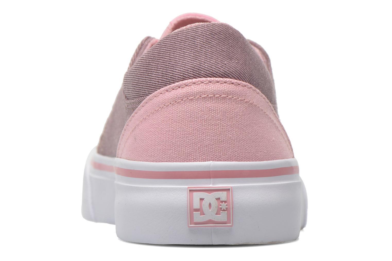 Baskets DC Shoes Trase Tx Se G Rose vue droite