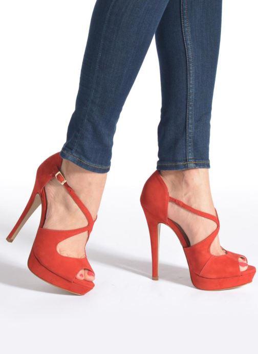 Sandales et nu-pieds Buffalo Alicia Beige vue bas / vue portée sac