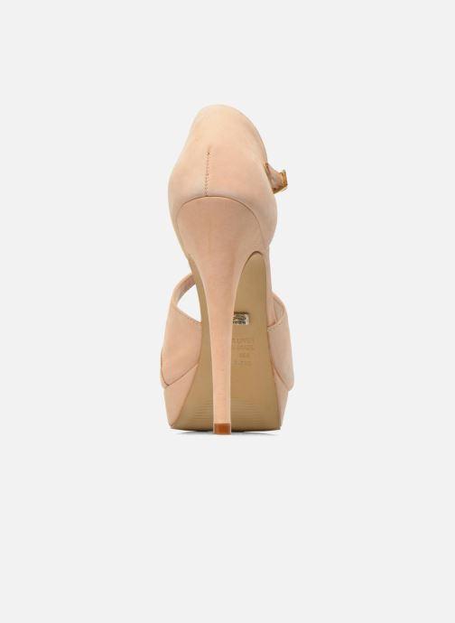 Sandales et nu-pieds Buffalo Alicia Beige vue droite