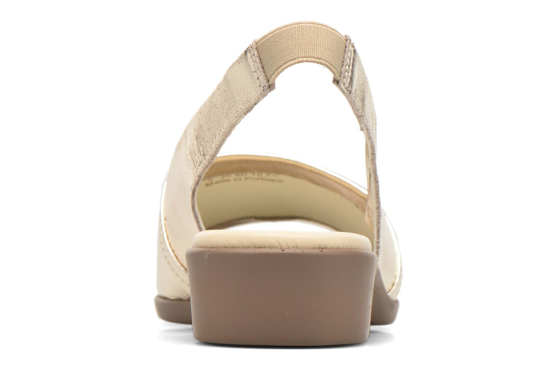 Sandales et nu-pieds Aerosoles Cush Flow Or et bronze vue droite
