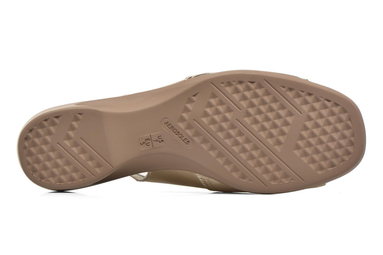 Sandales et nu-pieds Aerosoles Cush Flow Or et bronze vue haut