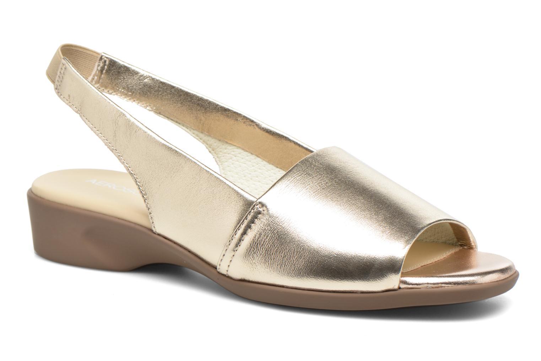 Sandales et nu-pieds Aerosoles Cush Flow Or et bronze vue détail/paire