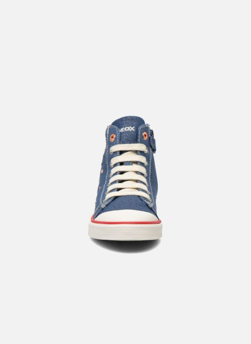 Baskets Geox J Ciak G. B J6204B Bleu vue portées chaussures