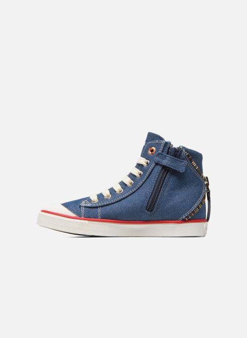 Sneakers Geox J Ciak G. B J6204B Azzurro immagine frontale