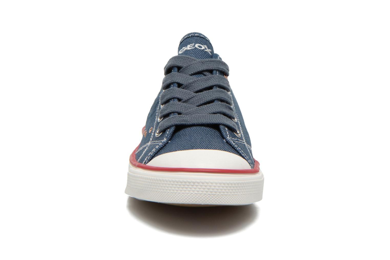 Baskets Geox J Ciak G. E J6204E Bleu vue portées chaussures