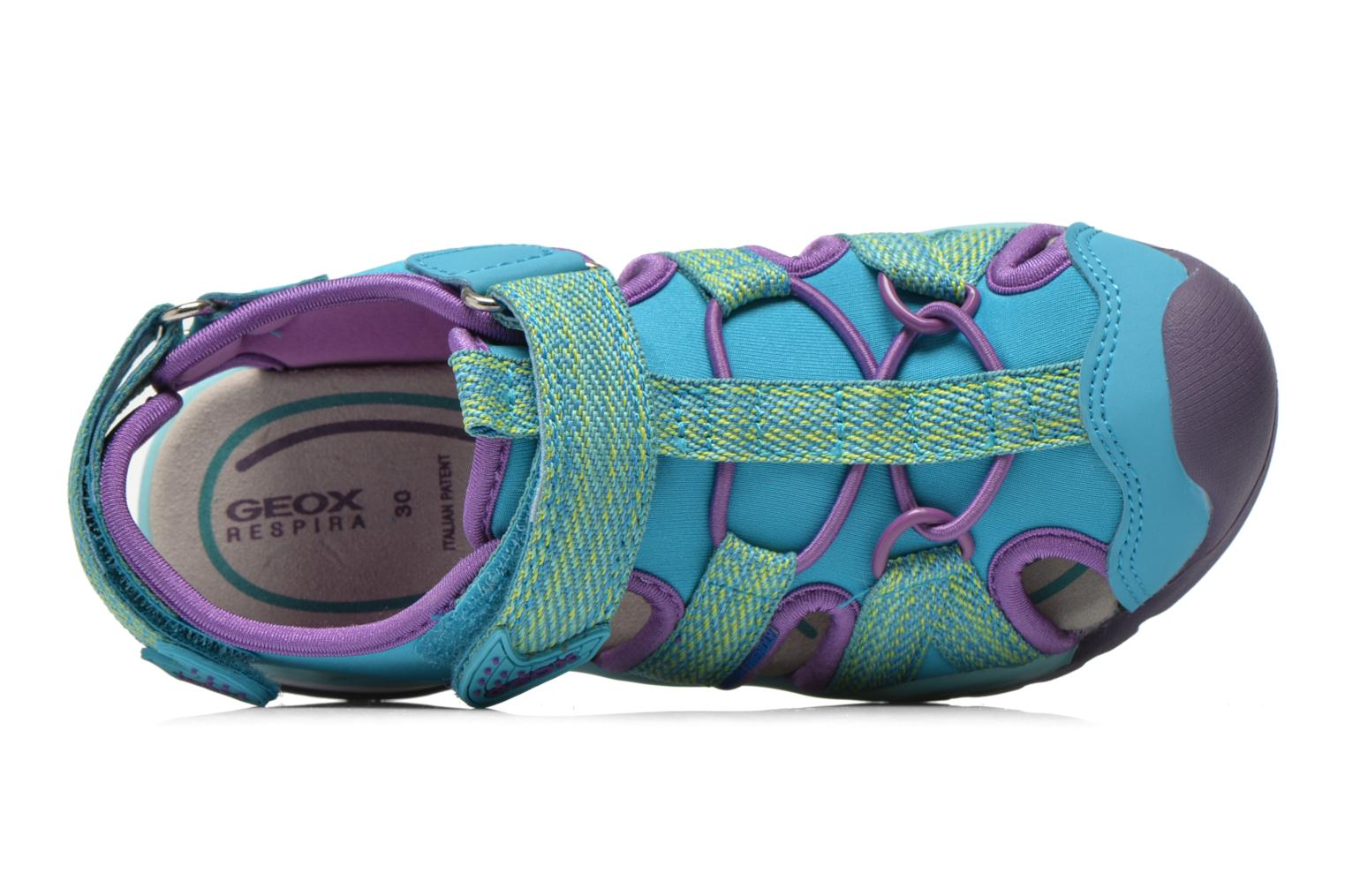 Sandals Geox J Borealis G. B J620WB Blue view from the left