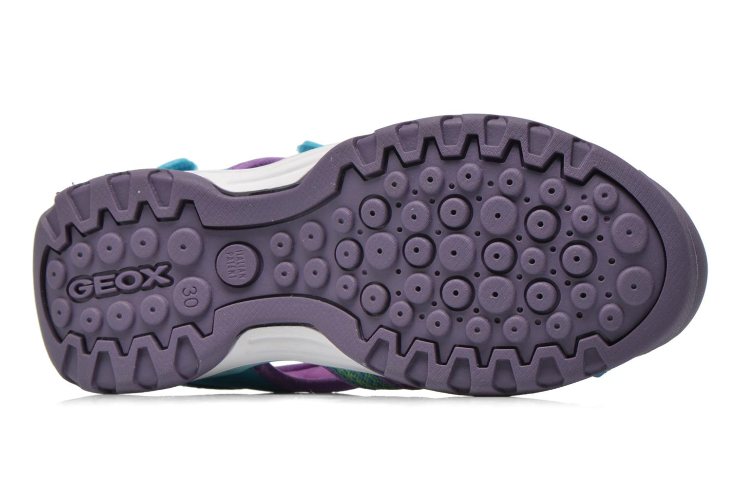 Sandals Geox J Borealis G. B J620WB Blue view from above