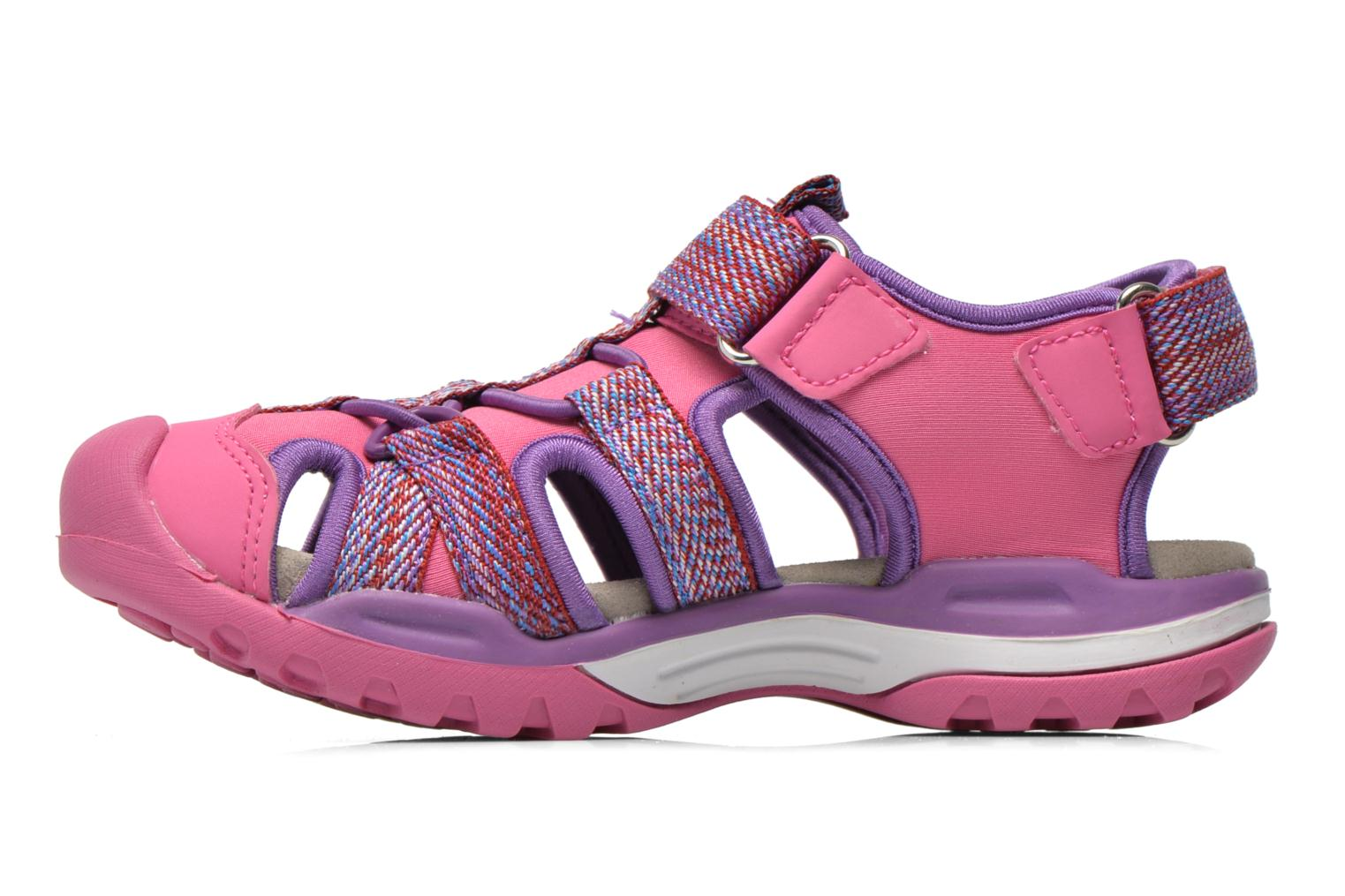 Sandals Geox J Borealis G. B J620WB Pink front view