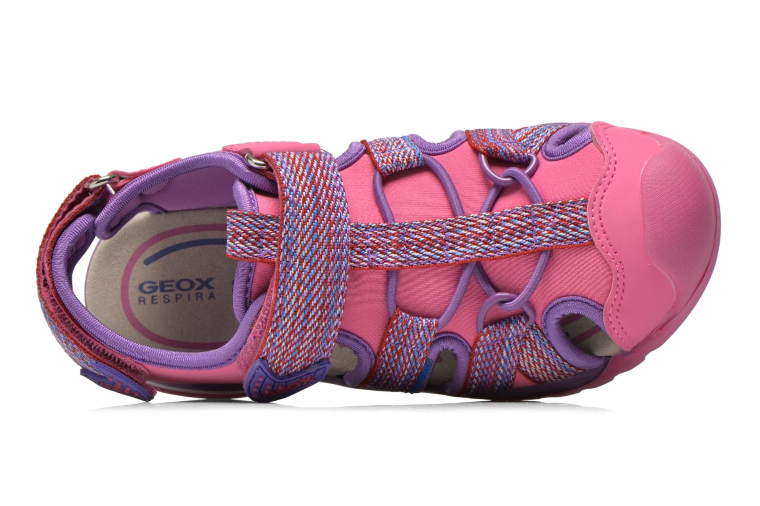 Sandals Geox J Borealis G. B J620WB Pink view from the left