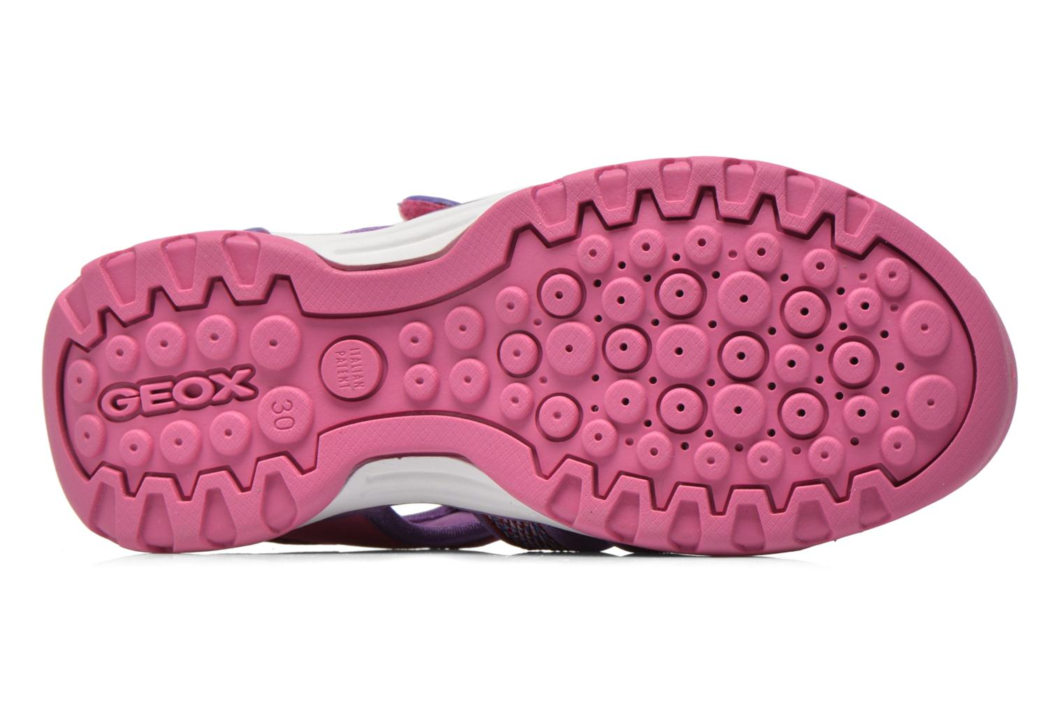 Sandals Geox J Borealis G. B J620WB Pink view from above