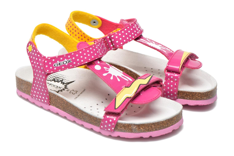 Sandali e scarpe aperte Geox J N.S.Aloha G. B J621CB Rosa immagine 3/4