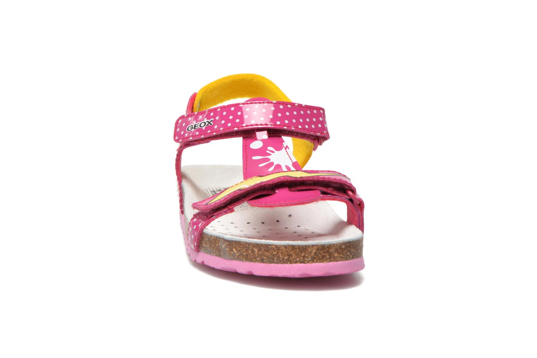 Sandali e scarpe aperte Geox J N.S.Aloha G. B J621CB Rosa modello indossato