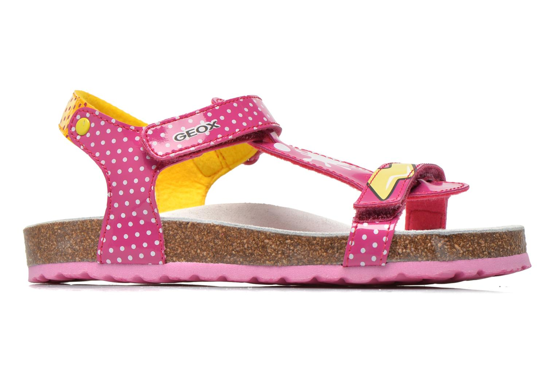 Sandali e scarpe aperte Geox J N.S.Aloha G. B J621CB Rosa immagine posteriore