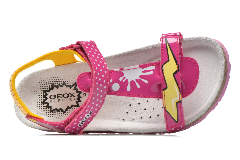 Sandali e scarpe aperte Geox J N.S.Aloha G. B J621CB Rosa immagine sinistra