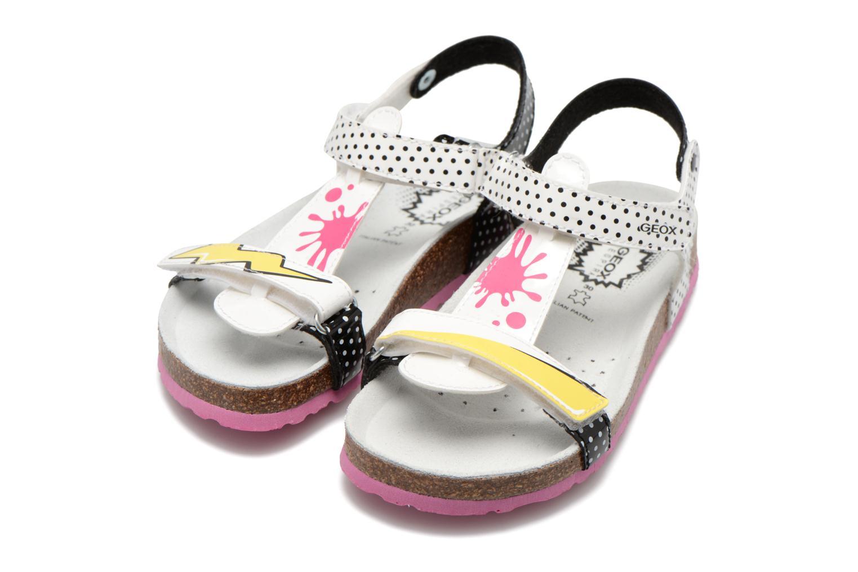 Sandali e scarpe aperte Geox J N.S.Aloha G. B J621CB Bianco immagine 3/4