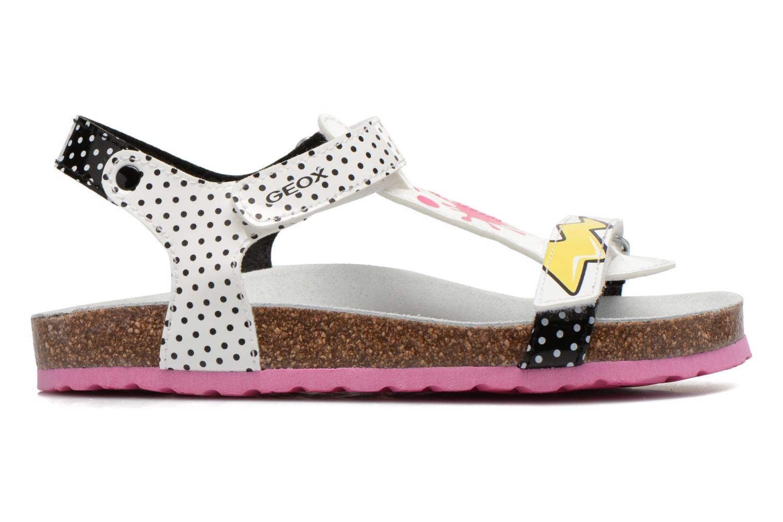 Sandali e scarpe aperte Geox J N.S.Aloha G. B J621CB Bianco immagine posteriore