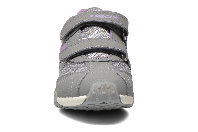 Baskets Geox J Tale A J6221A Gris vue portées chaussures