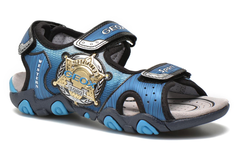 Sandales et nu-pieds Geox J Sand.Strike A J6224A Bleu vue détail/paire