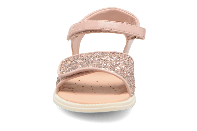 Sandales et nu-pieds Geox J Sand.Karly C J6235C Rose vue portées chaussures
