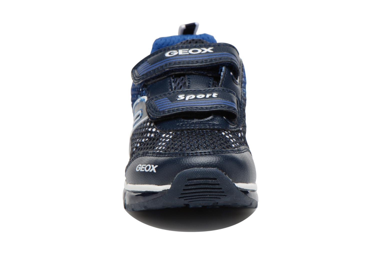 Baskets Geox J Android B. C J6244C Bleu vue portées chaussures